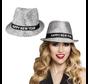 Gelukkig nieuwjaar hoed zilver