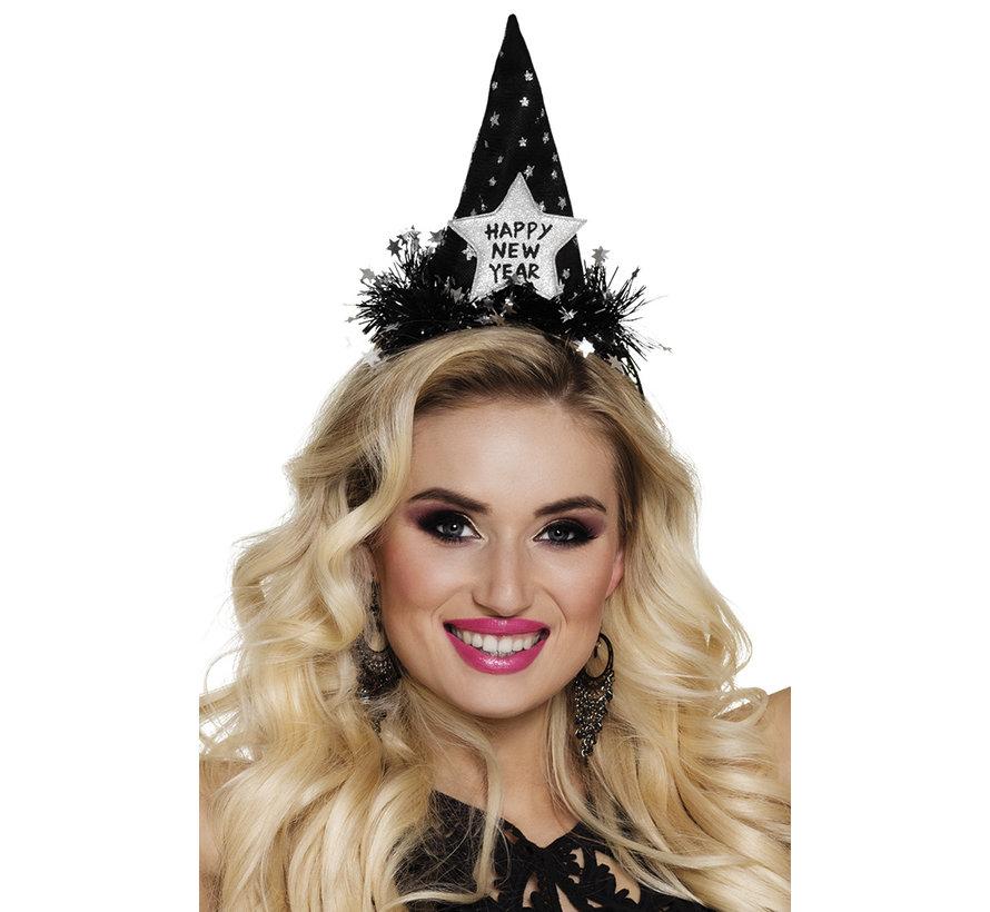 Happy new year tiara zwart