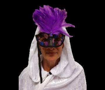 Dames oogmasker met paarse
