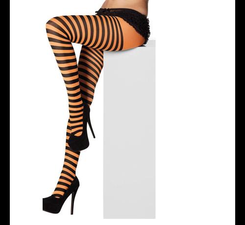 Panty gestreept oranje/zwart kopen