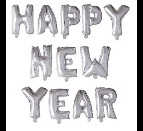 Folieballonnen happy new year 103 cm hoog