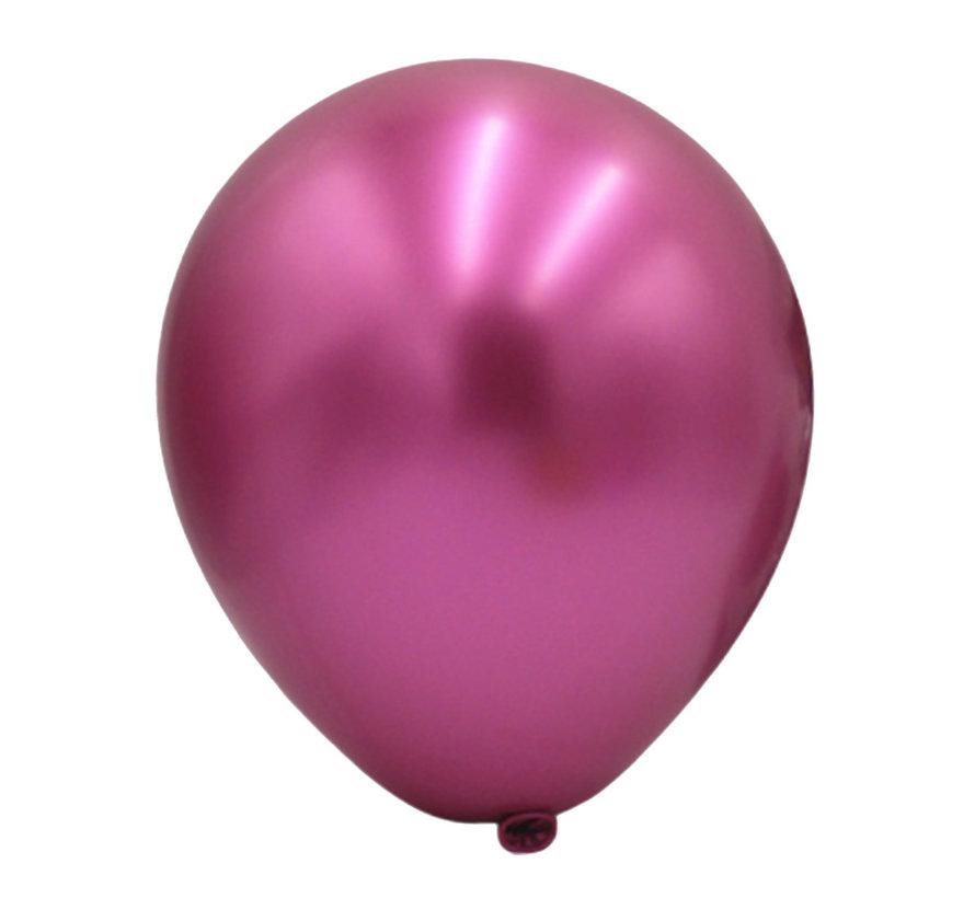 Grote magenta metallic ballonnen