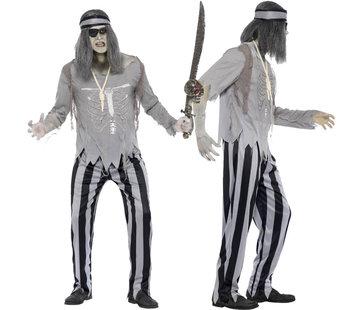 Zombie kostuum heren piraat
