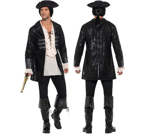 Heren Buccaneer Piratenjas zwart