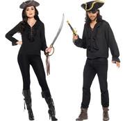 Piraat shirt zwart