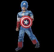 Captain America kind kostuum met schild