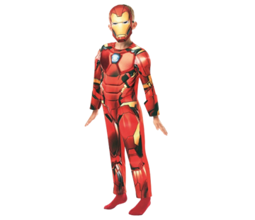 Iron man kostuum kind deluxe