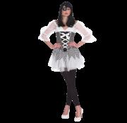 Gestreepte piraten jurk