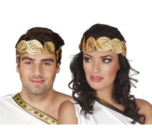 Romeinse Hoofdband goud kleurig