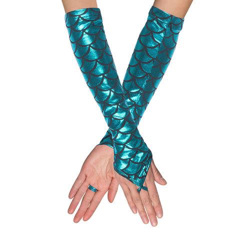 Zeemeermin handschoenen zonder vingertoppen