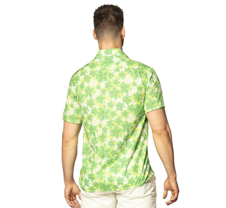 Hawaii overhemd groen korte mouw