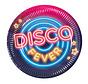 Papieren wegwerp bordjes Disco