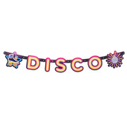 Kartonnen disco banner