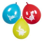 Gekleurde dinosaurus ballonnen