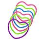 Armband hartjes gekleurd kunststof