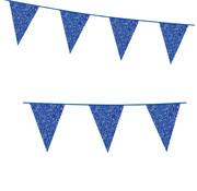 Blauwe kartonnen vlaggenlijn