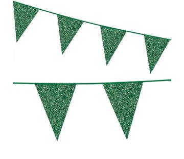Groene kartonnen vlaggenlijn