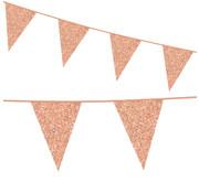 Rosegoud kartonnen vlaggenlijn