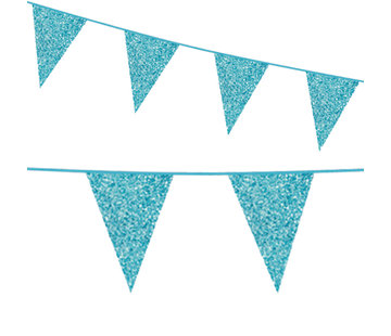 Babyblauw kartonnen vlaggenlijn