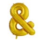 Ampersand folie ballon goud