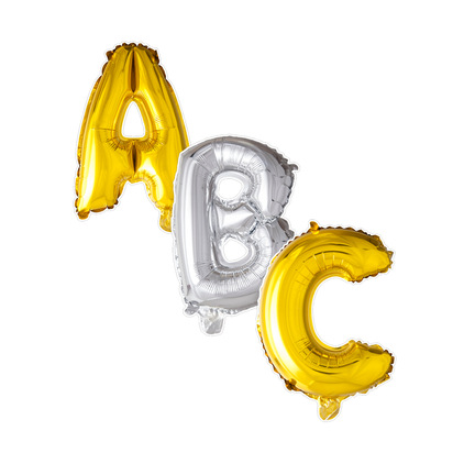 Folie letter ballonnen 41 cm