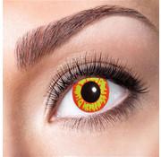 Gekleurde contactlenzen Rood/Geel