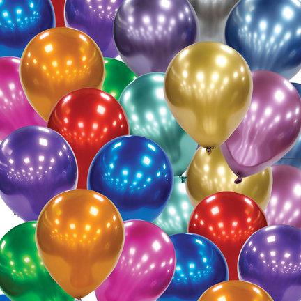 10 kleuren chroom ballonnen