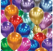 Chroom ballonnen gemengde kleuren