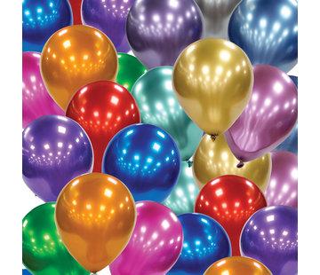Blauwe chrome ballonnen