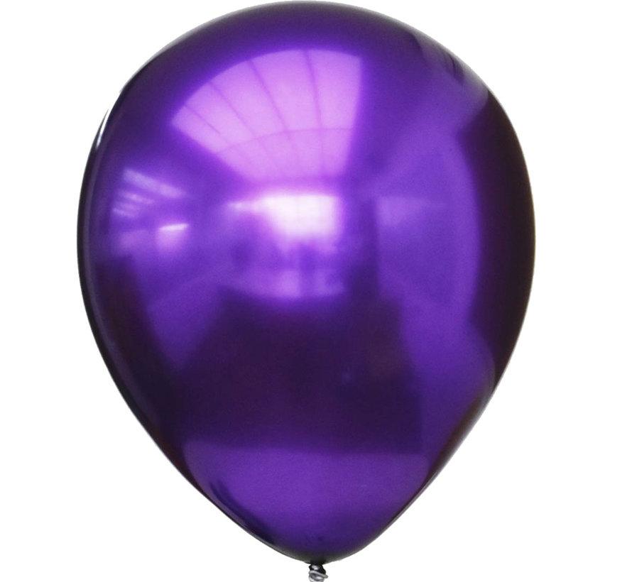 Glanzende Latex Paarse chrome ballonnen