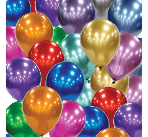 Latex Chroom ballonnen zilver-kleurig