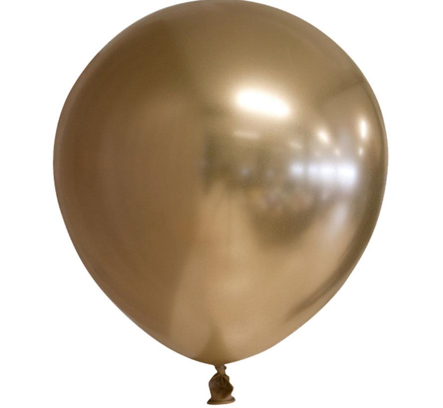 Latex chrome ballonnen goud-kleurig