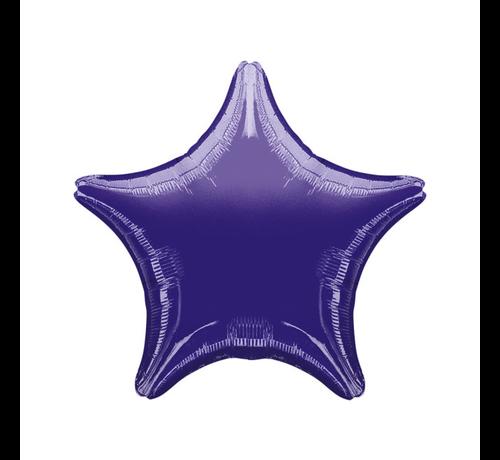 Blanco folieballon ster paars