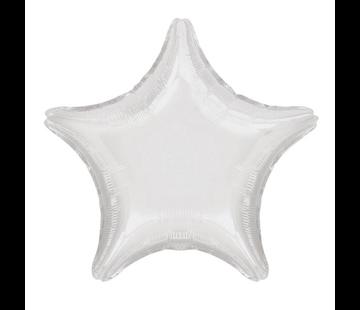 Folieballon ster wit