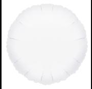 Blanco folie ballon rond wit
