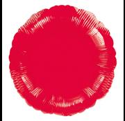 Blanco folie ballon rond rood