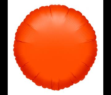 Blanco folie ballon rond oranje