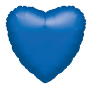 Blanco folieballon hart blauw