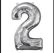 Folie cijfer 2 ballon