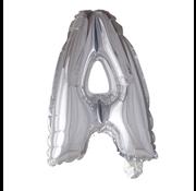 Letter ballonnen zilver A