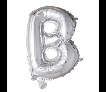 Folieballon letter B Zilver
