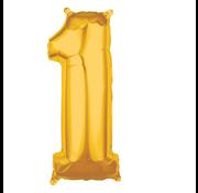 Folie cijfer 1 goud