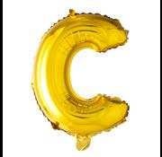 Letter C folie ballon goud