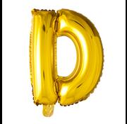 Letter D folie ballon goud