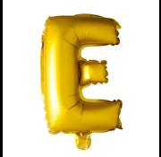 Letter E folie ballon goud