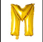 Gouden letters ballon M