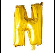 Gouden letters ballon N