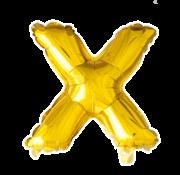 Folie letter ballon X goud