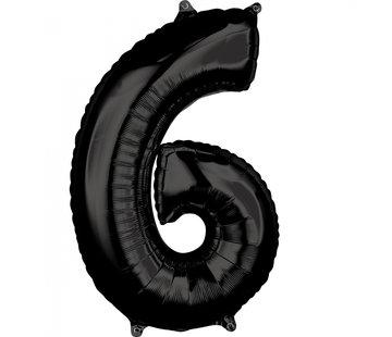 Zwarte Folie ballon 6