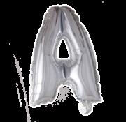 Folieballon letter 'A' zilver
